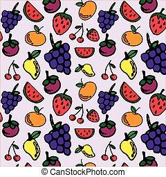 你, 模式設計, seamless, 水果