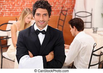 侍者, 餐館
