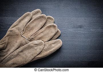 保護, 二, 黑暗, 木頭, 手套, 板