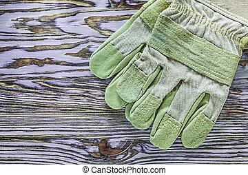 保護, 木制, 圖像, 手套, 板, 水平