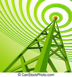 信號, 傳送者, sends, 高, 數字, 塔