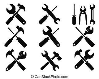 修理, 工具, 集合, 圖象