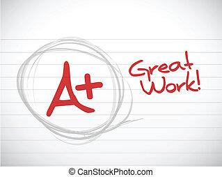 偉大, work., 插圖, grade., 設計, 加上