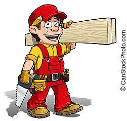 做零活的人, -, 木匠, 紅色