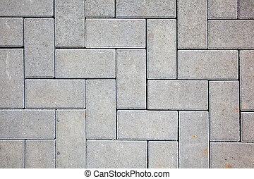 做, 塊, 混凝土, 顏色, 圖案, 灰色, 投, 人行道