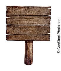 做, 老, 木制, wood., 簽署, board., 郵寄, 面板