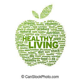 健康活著, 蘋果, 插圖