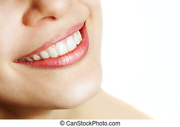 健康, 微笑, 婦女, 新鮮, 牙齒
