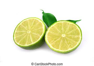 健康, 被隔离, 水果, 綠色白色, 石灰