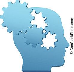 傷口, 齒輪, 頭腦, 革新, 技術, 認為, 在外