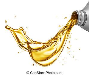 傾瀉, 油