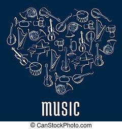 儀器, 圖象, 音樂, 心