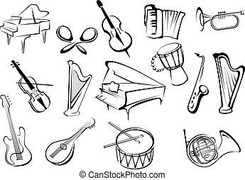 儀器, 略述, 音樂, 風格, 圖象