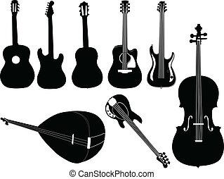 儀器, 矢量, -, 音樂