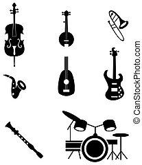 儀器, 集合, 音樂, 圖象