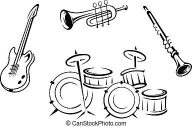 儀器, 集合, 音樂