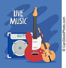 儀器, 音樂, 字母, 音樂, 活