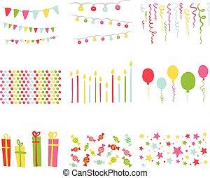 元素, 剪貼簿, 黨, 生日, 裝置設計