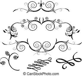元素, 裝飾, 植物群的設計