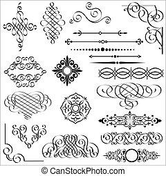 元素, 設計, calligraphic