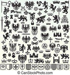 元素, heraldic, 設計