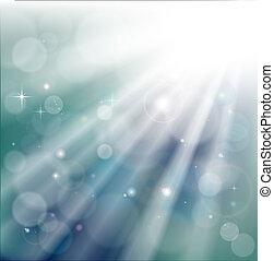 光線, bokeh, 背景, 光
