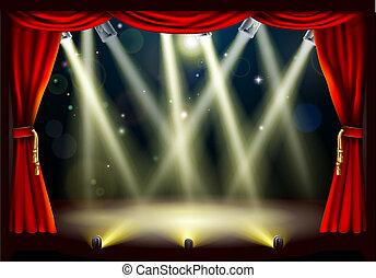光, 劇院, 階段