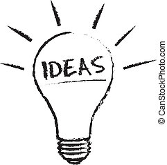 光, 想法, 燈泡