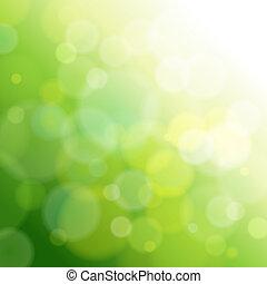 光, 摘要, 綠色, 背景。