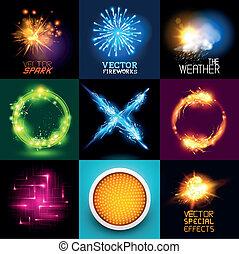 光, 矢量, 產生, 彙整