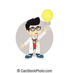 光, 醫生, 想法, 燈泡