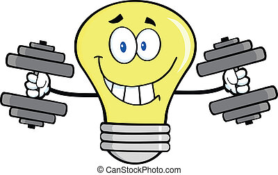 光, dumbbells, 燈泡