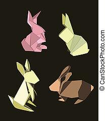 兔子, origami, 集合
