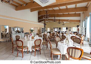 內部, 地中海, 豪華, -, 餐館