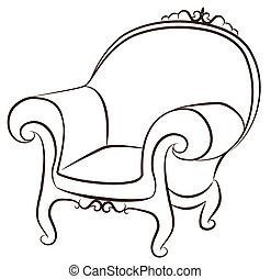 內部, 葡萄酒, arm-chair