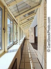 內部, 長, (gallery), 陽台