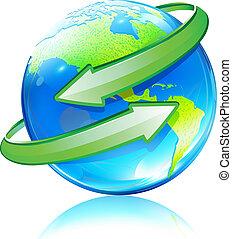 全球, 地圖, 地球, 有光澤