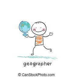 全球, 地理學者, 手