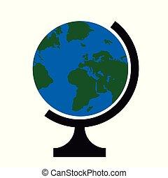 全球, 矢量, 插圖