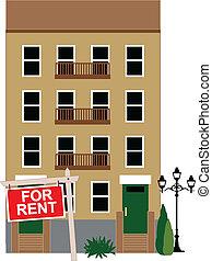 公寓, 租金
