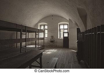 兵營, terezin, 房間