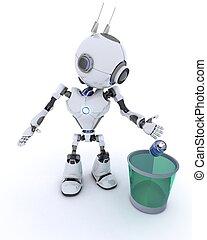 再循環, 浪費, 機器人