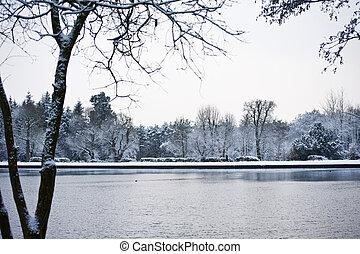 冬天風景, 湖