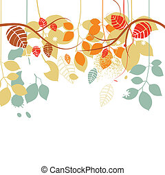 分支, 離開, 樹, 明亮的顏色, 背景, 秋天, 白色, 在上方