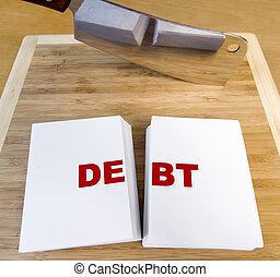 切, 債務