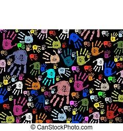 列印, 鮮艷, 手