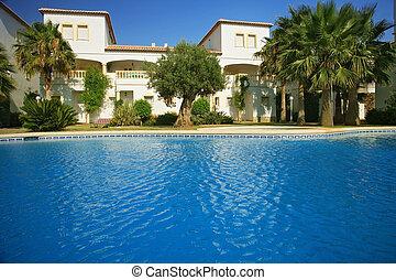 別墅, 池, 游泳