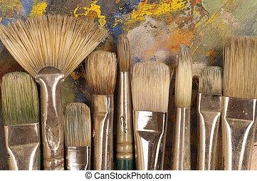 刷子, 扁平工具, artist's