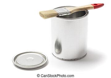 刷子, 金屬, 打開, 罐頭, 畫