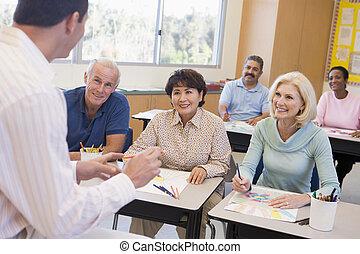前景, 學生, 圖片, 類別, 圖畫, 成人, focus), (selective, 老師
